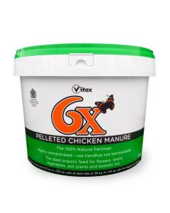 Vitax 6x Pelleted Chicken Manure 8Kg Tub